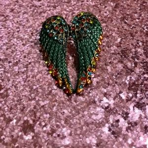 Angel Wing Rhinestone Brooch